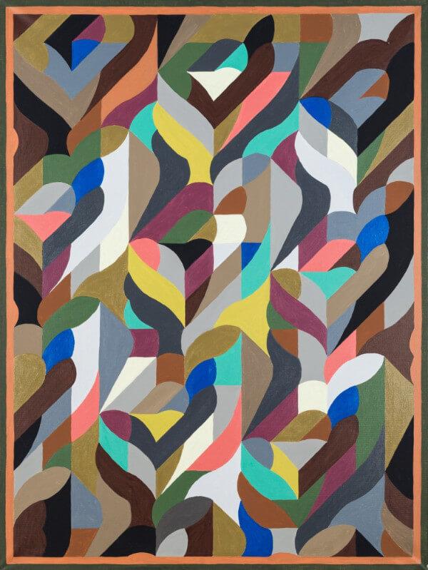 Abstrakcja kolorowe sznury