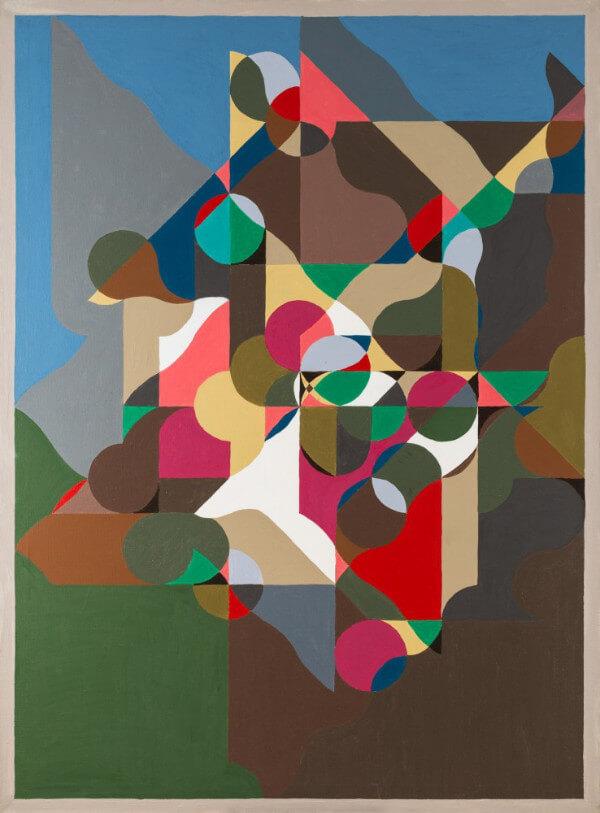 Kolorowa abstrakcja ze srodkiem